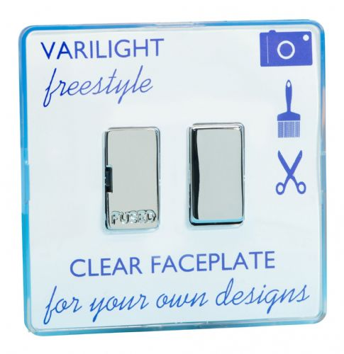 Varilight XIF6C Freestyle Clear 1 Gang 13A Switched Fused Spur